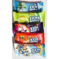 Салфетки влажные 100% чистоты 15шт (mix)