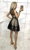 Женское нарядное платья с сеточкой