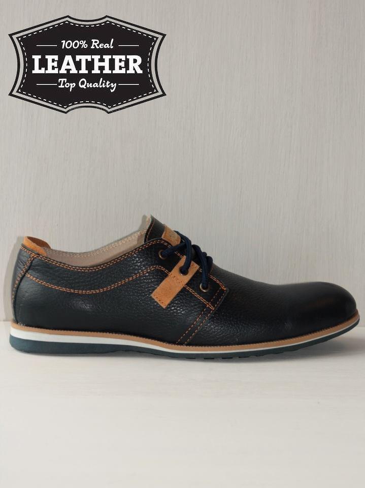 Кожаные мужские туфли M7