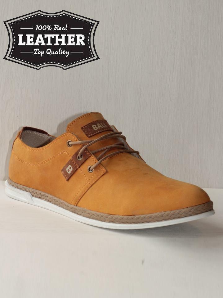 Стильные мужские кожаные туфли M14