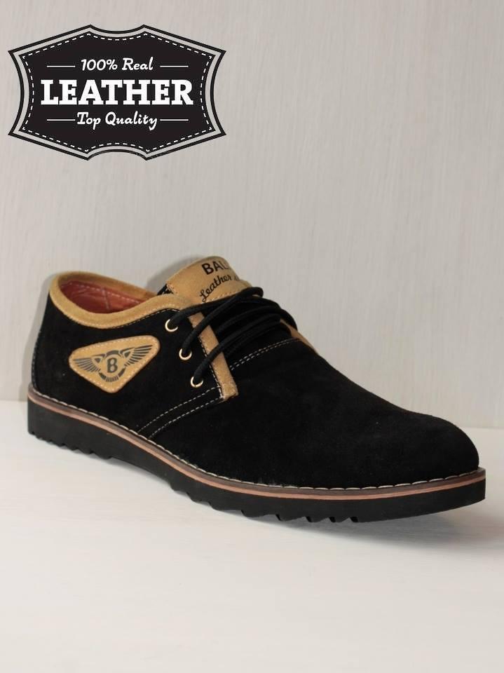 Замшевые мужские туфли M18