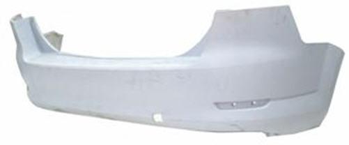 Задний бампер Ford Mondeo 07-10 Седан, (два выхлопа) со спойлером и па