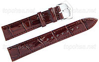 Ремінець Slava (Слава) 16 мм для наручних годинників, натуральна шкіра, коричневий, рядок