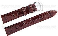 Ремешок Slava (Слава) 16 мм для наручных часов, натуральная кожа, коричневый, строчка