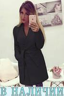 Удобное и стильное кашемировое пальто-халат с широкими лацканами Jessy