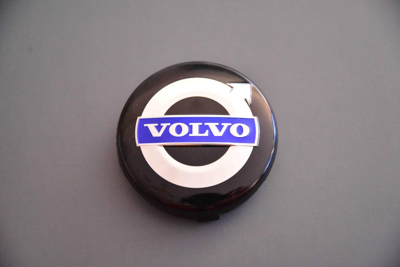 Колпачки заглушки для дисков  в диски Volvo ВОЛЬВО, черный 64/63/11, 3