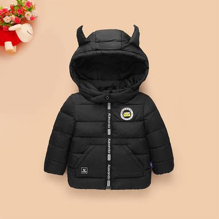 Детская демисезонная куртка капюшон с рожками, фото 2