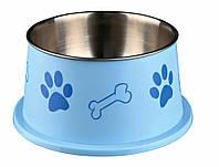 Миска Trixie Long-Ear Bowl для спаниелей, нержавеющая сталь, 0.9 л, фото 1