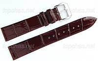 Ремінець Slava (Слава) 20 мм для наручних годинників, натуральна шкіра, коричневий
