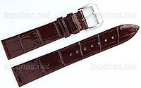 Ремешок Slava (Слава) 10 мм для наручных часов, натуральная кожа, коричневый