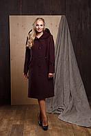 """Женское кашемировое пальто больших размеров с капюшоном """"Багира"""""""