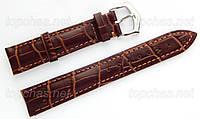 Ремінець Slava (Слава) 24 мм для наручних годинників, натуральна шкіра, коричневий, рядок