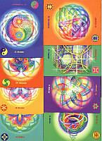 """Книга и инициации """"Исцеляющая сила энергетических волн + набор из 64 карт"""" Ровена Патти Крайдер"""
