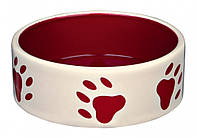 Миска Trixie Ceramic Bowl для собак красная, керамика, 0.3 л