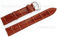 Ремешок Slava (Слава) 24 мм для наручных часов, натуральная кожа, светло-коричневый, строчка