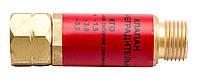 Клапан огнепреградительный газовый на редуктор (красный). Краматорск