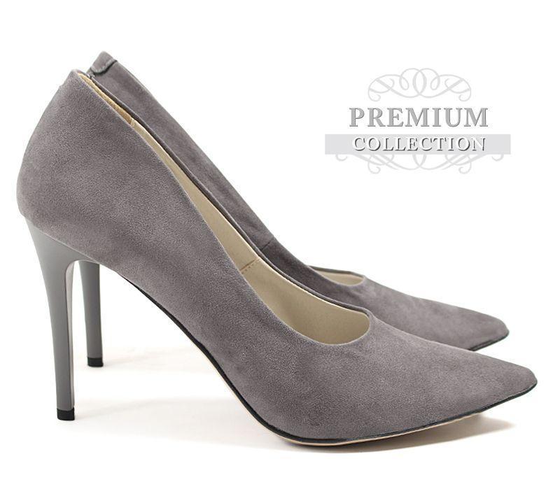 Женские туфли из замша на шпильке