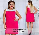 Платье №3396П (р-р.48,50,52,54) Ткань:лен натуральный. Цвета в ассортименте, фото 4