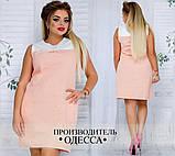 Платье №3396П (р-р.48,50,52,54) Ткань:лен натуральный. Цвета в ассортименте, фото 5