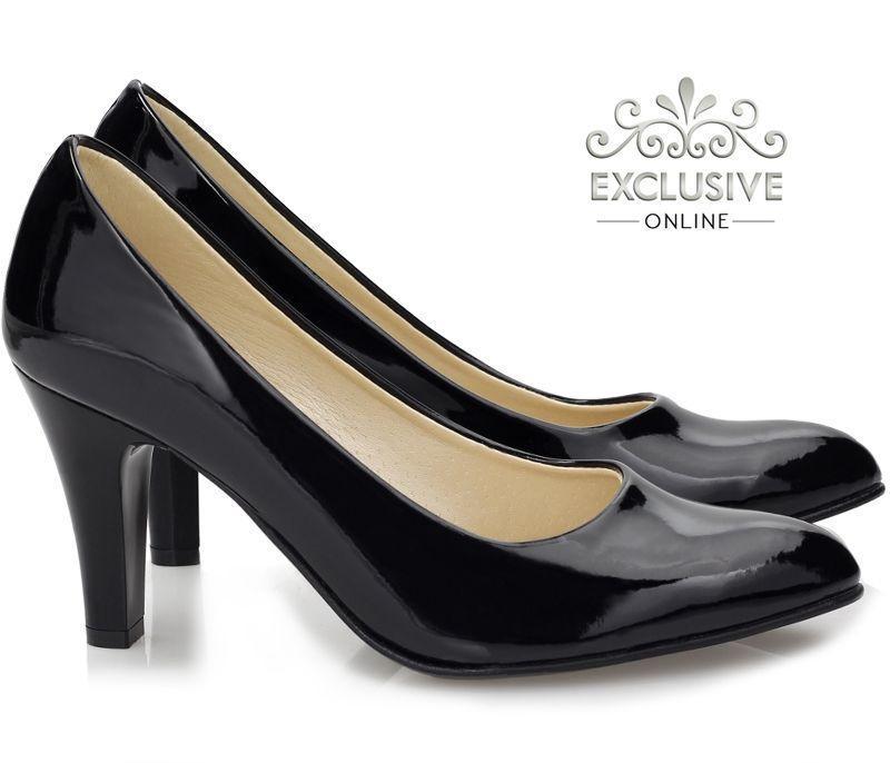 Польские классические женские лаковые  туфли размеры 35-41