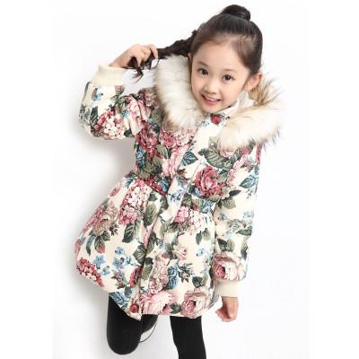 Зимняя куртка с талией розы