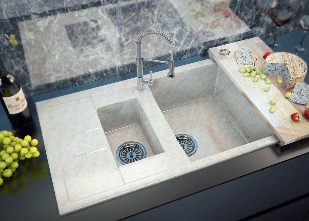 Кухонные мойки MOKO™ серии TecMar «Marmo Elegante»
