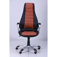 Кресло Форс (CX 0678 Y10) Черный/вставка Коричневый (AMF-ТМ)
