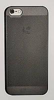 Чехол на Айфон 5/5s/SE Soft Touch Loopee мягкий Пластик Черный, фото 1