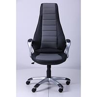 Кресло Форс (СX 0678 Y10-01) Черный/вставка Серый (AMF-ТМ)