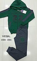 """Спортивный костюм подростковый на мальчиков 158,164,170,176 роста""""22"""" зеленый"""