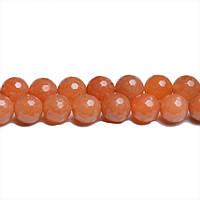 Красный Граненый Авантюрин, Натуральный камень,бусины 8 мм, Шар, Отверстие 1 мм, количество: 47-48 шт/нить