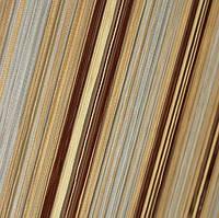 Шторы Нити, кисея радуга вертикальная №103 беж, серебро, коричневый