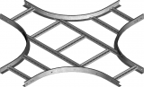 Крестовина кабельроста CZDP200H45