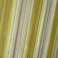 Шторы Нити, кисея радуга вертикальная №125 белый, салат, оливка