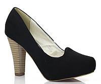 Женские туфли из искусственного замша на удобном каблуке размеры 36-39