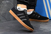 Кроссовки Adidas 350 черные замша Индонезия