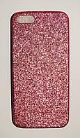 Чехол на Айфон 5/5s/SE Thin Diamond Силикон глиттер Розовый, фото 1