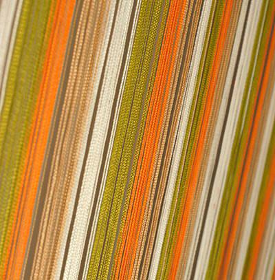Шторы Нити, кисея радуга вертикальная №106 белый, оливка, оранжевый