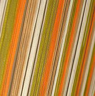 Шторы Нити, кисея радуга вертикальная №106 белый, оливка, оранжевый, фото 1