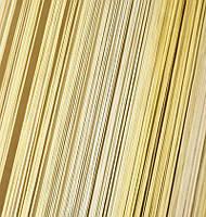 Шторы Нити, кисея радуга вертикальная №121 белый, молоко, беж