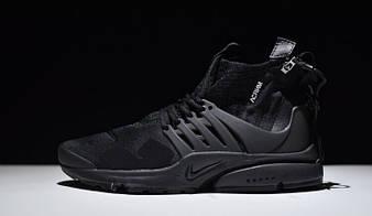 "Мужские  Кроссовки NikeLab Air Presto x Acronym Mid ""Triple Black"""