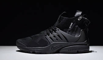"Мужские  Кроссовки NikeLab Air Presto x Acronym Mid ""Triple Black"""