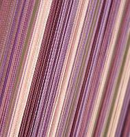 Шторы Нити, кисея радуга вертикальная №126 лиловая растяжка, фото 1
