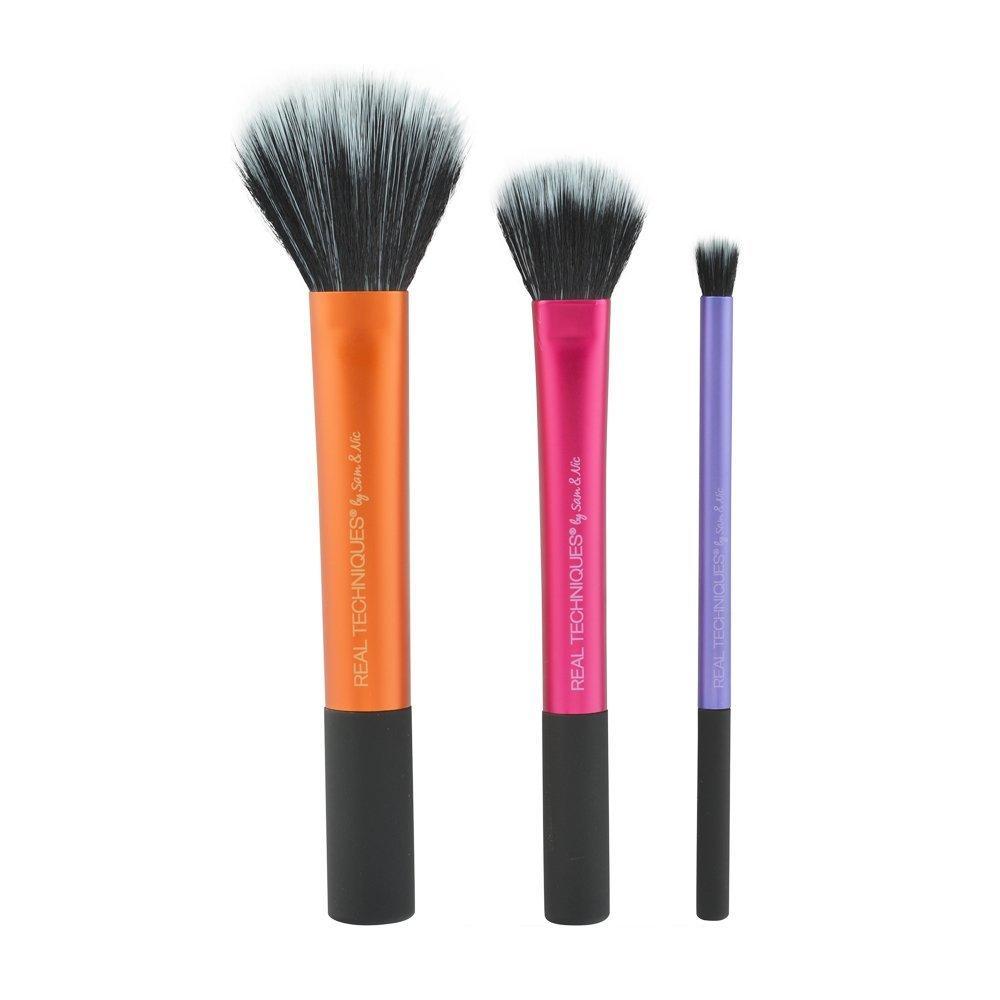 Real Techniques Duo-Fiber Collection набор из 3 кистей дуофибра для макияжа
