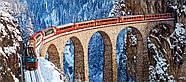 "Пазлы касторленд на 600 элементов. Панорамные - ""Виадук Ландвассер. Швейцарские альпы""., фото 2"