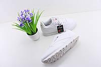 Женские кроссовки Reebok Classic Leather White Рибок белые кожаные 36