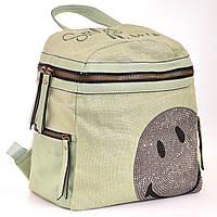 Сумка-рюкзак из эко кожи 1 ВЕРЕСНЯ, 554415 зеленый 12 л