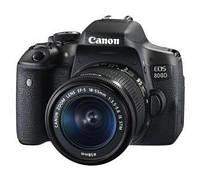 Фотоаппарат Canon EOS 800D + 18-55 мм f/3,5-5,6 IS STM (черный)