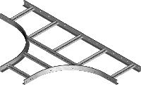 Тройник кабельроста TDP400H45