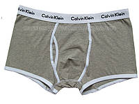 Мужские боксёры (хипсы) Calvin Klein 365 серые с белой окантовкой